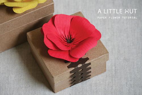Мак из бумаги своими руками оригами