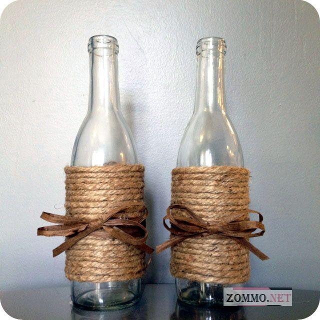 Как украсить пустые бутылки