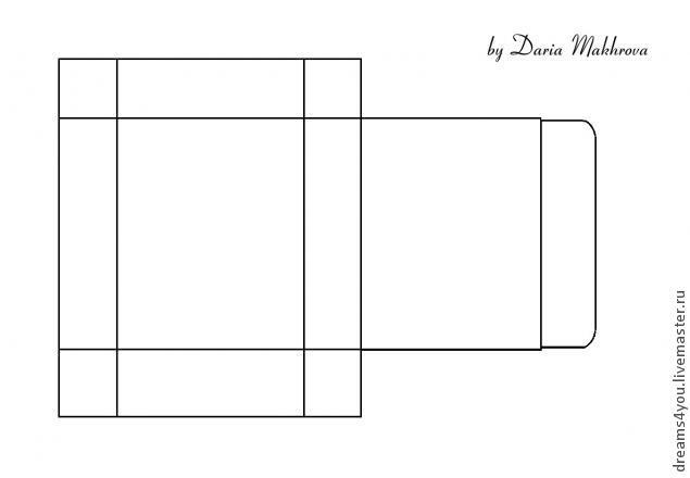 Прямоугольная коробочка своими руками шаблоны