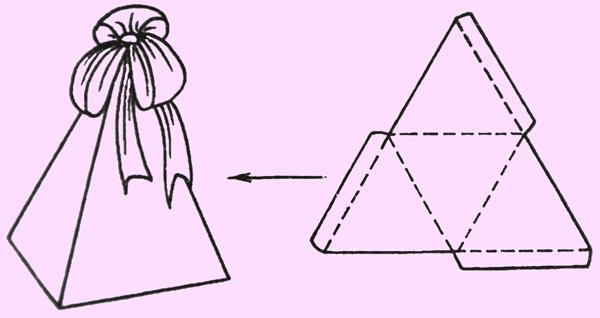Коробочки треугольные своими руками