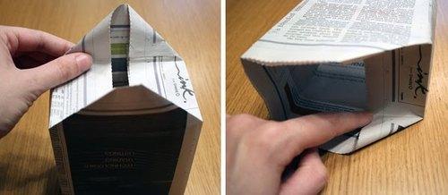 Как сделать сумку из бумаги своими руками