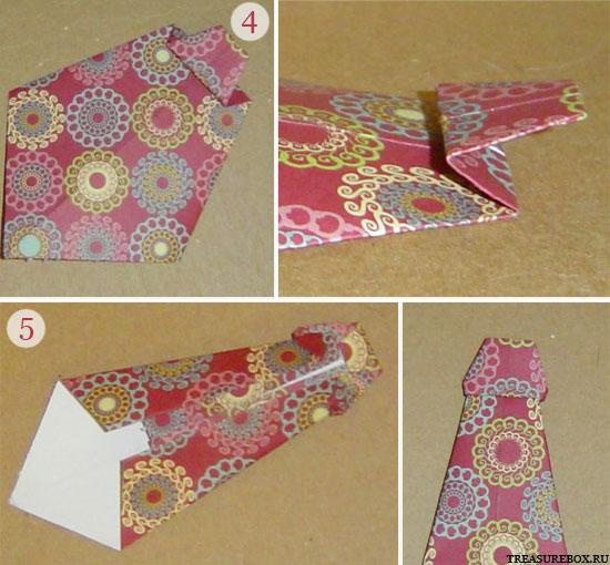 Галстук из ленты для открытки