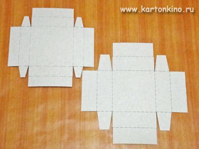 Квадратные коробочки своими руками
