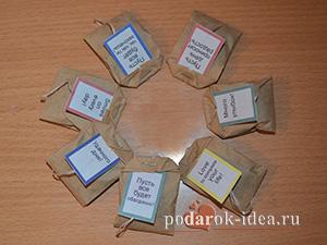Для пакетиков чая своими руками