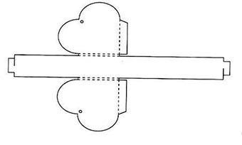 Как сделать шкатулку сердце из картона своими руками
