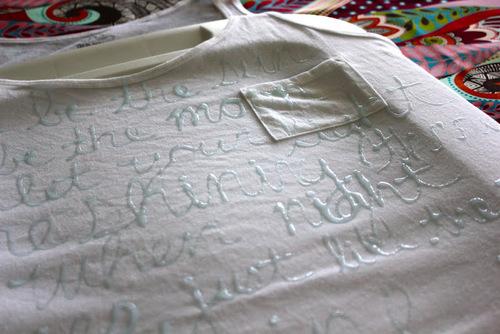 Надпись на футболке своими руками фото