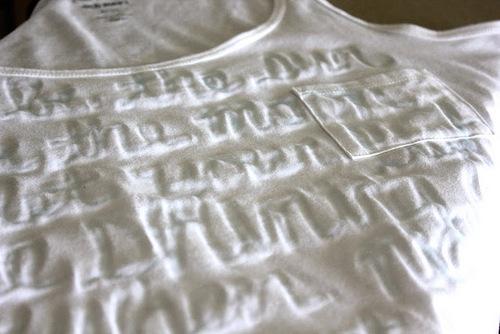 Как сделать надпись на футболку своими руками