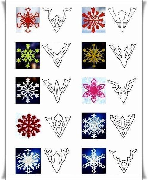 Как сделать снежинки своими руками картинки