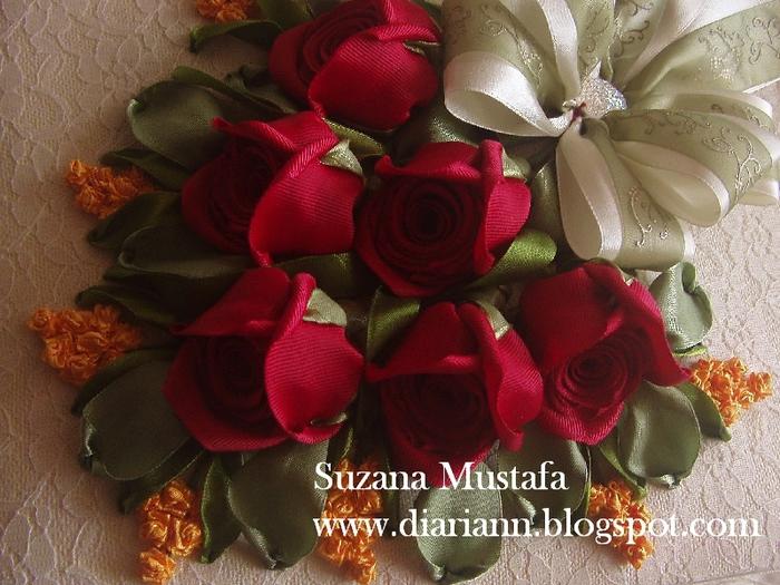 Объемная роза из атласной ленты мастер класс
