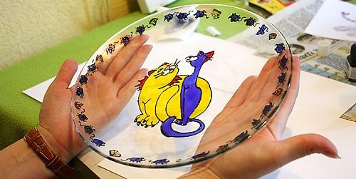 Роспись тарелок своими руками,