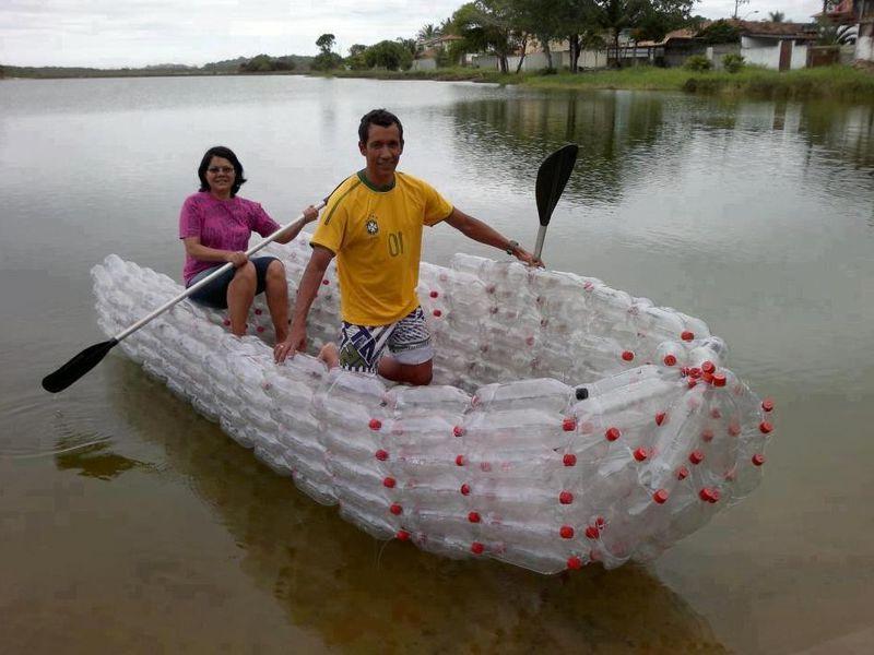 Лодки из пластиковых бутылок своими руками видео