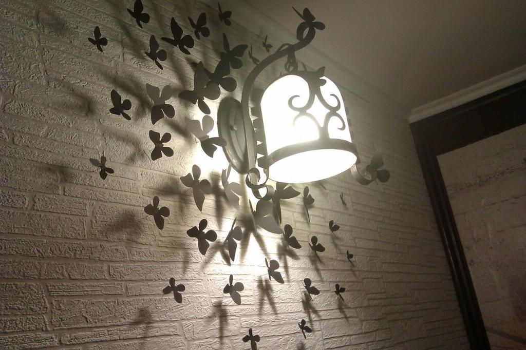 Декор бабочка своими руками фото