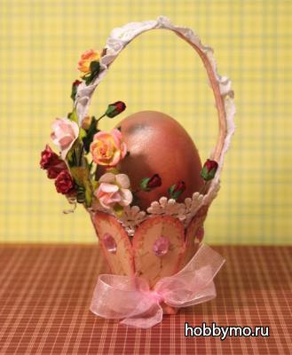 Корзинки для пасхальных яиц из бумаги своими руками