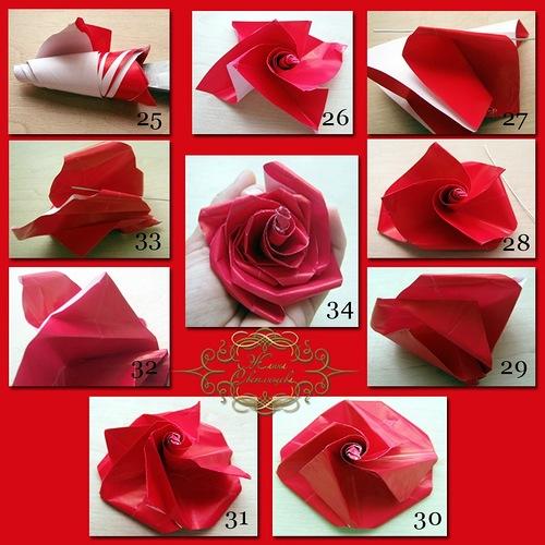 Роза из оригами быстро