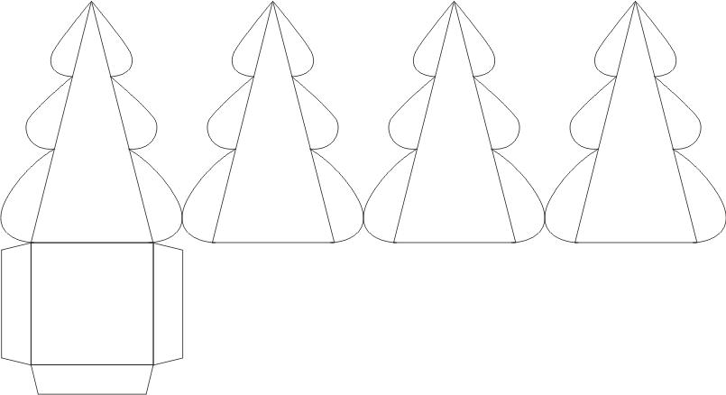 Подарочная коробка елка своими руками