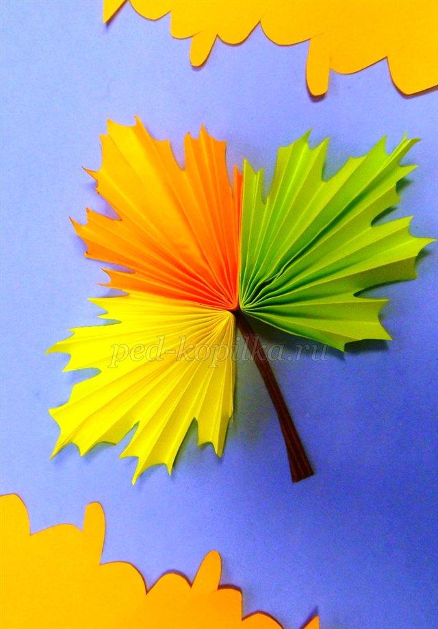 Поделки про осень из бумаги
