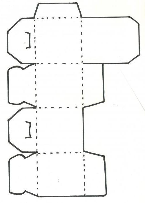 Коробочка из картона своими руками схемы фото