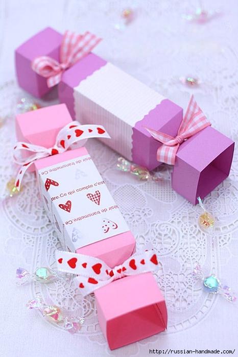 Коробка конфета из бумаги