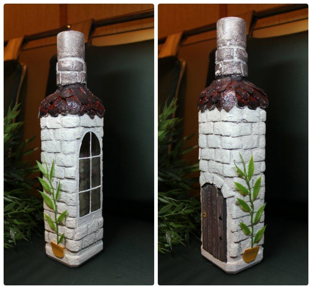 Как оформить пластиковую бутылку своими руками