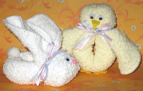 Как из полотенец сделать зайца