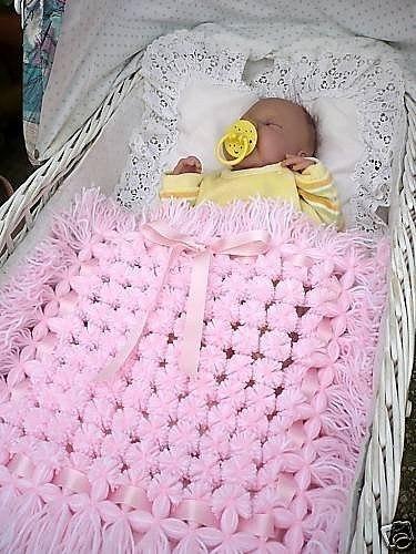 Вязанный плед для новорожденного своими руками
