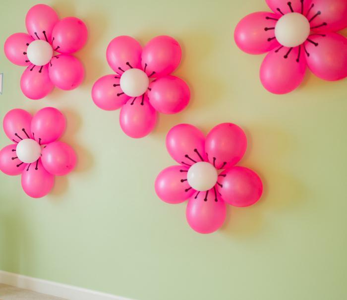 Сделать цветы из круглых шариков своими руками