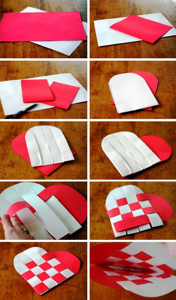 Сделать сердце из картона