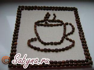 Поделки из кофейных зерен своими руками чашка с блюдцем фото