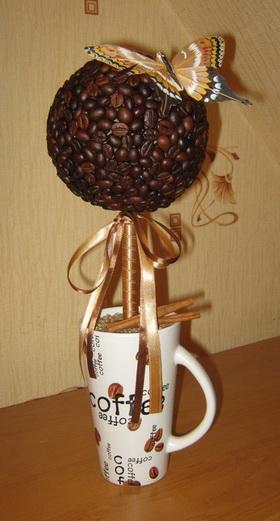 Как сделать топиарий кофе