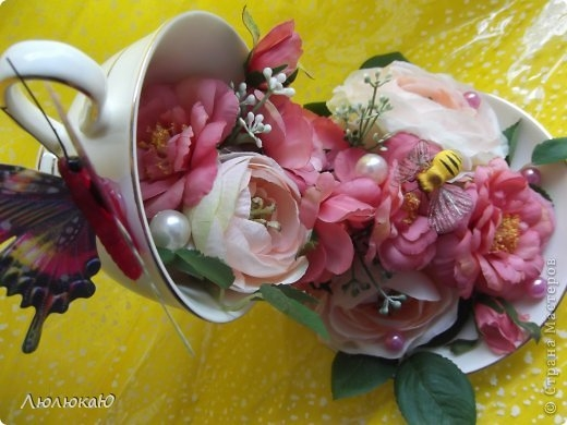 Кружка с цветами своими руками фото