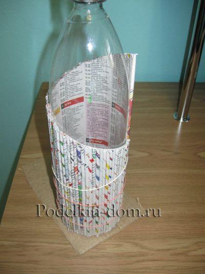 Как сделать из газет вазочку мастер класс