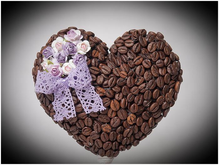 Кофейное сердце своими руками мастер класс