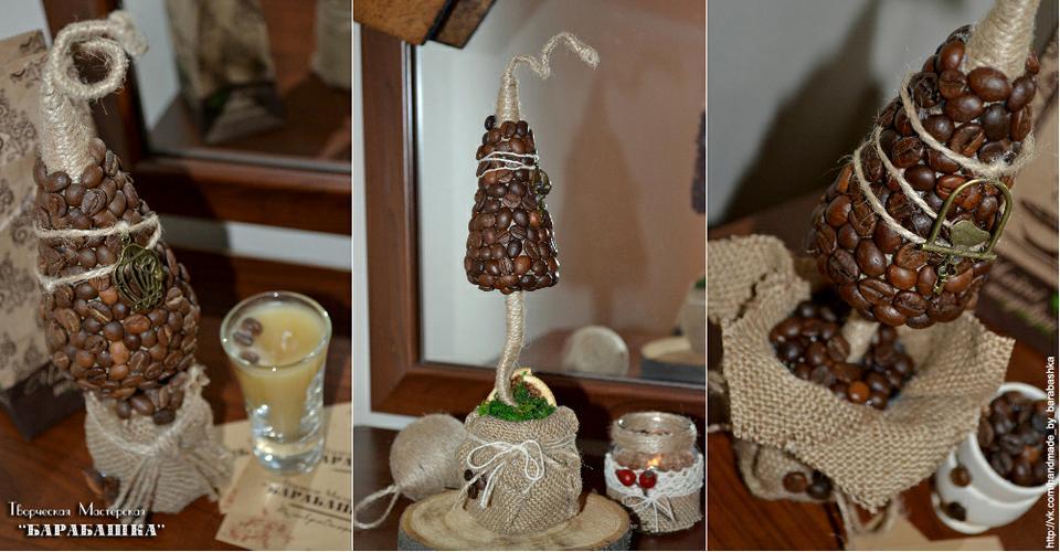 Сделать елку своими руками из кофе