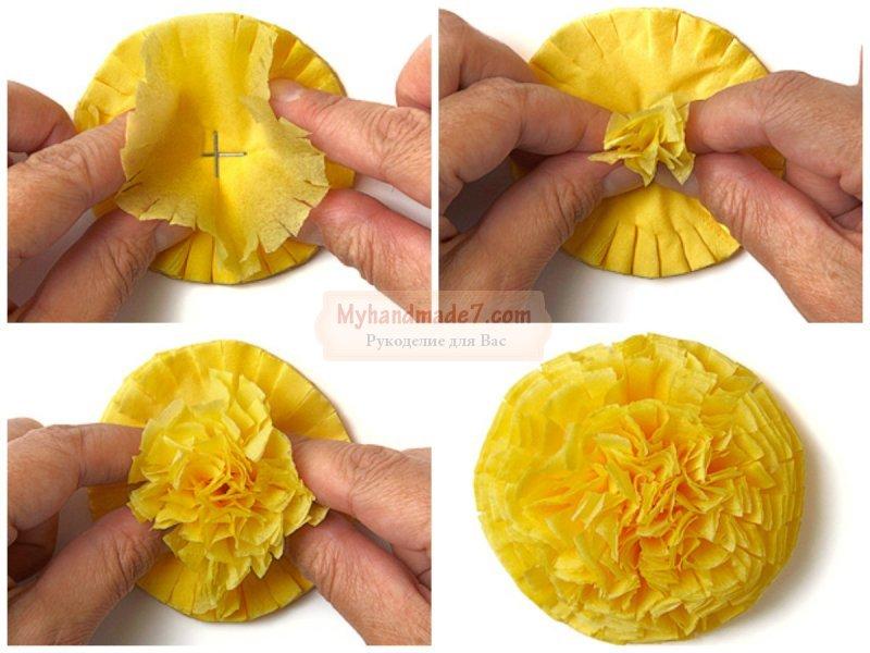 Как сделать цветочек из салфетки своими руками