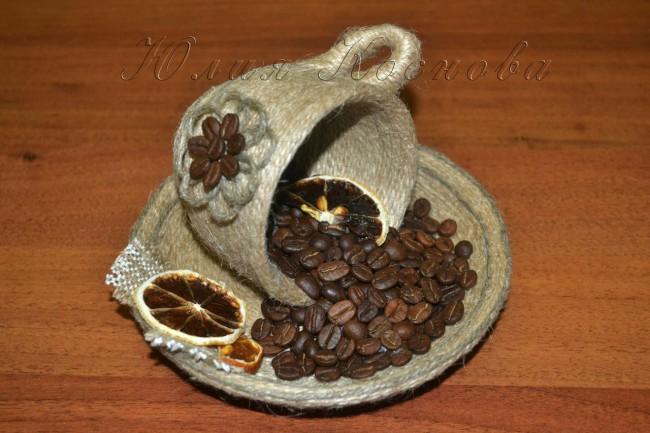 Из кофейных зерен своими руками фото