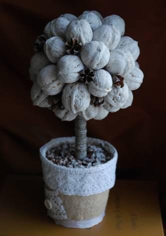 Хризантема с атласных лент своими руками