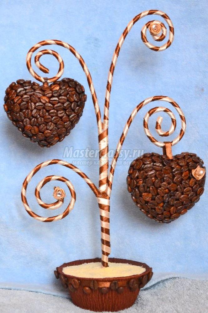 Поделки из кофейных зерен кофейное дерево своими руками