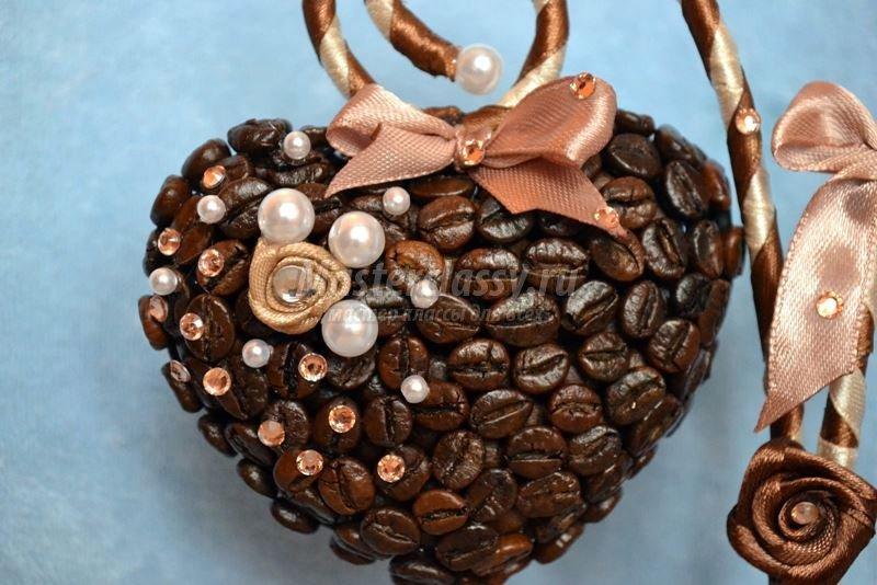 Кофейное сердечко своими руками фото