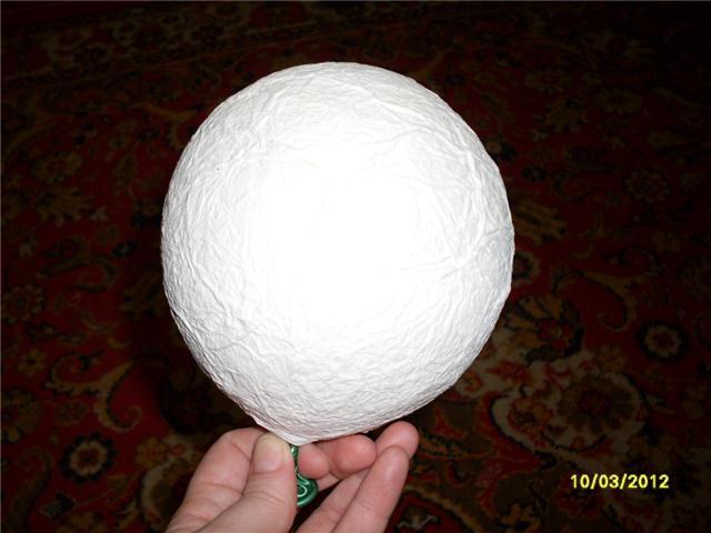 Как сделать шар для топиария из бумаги