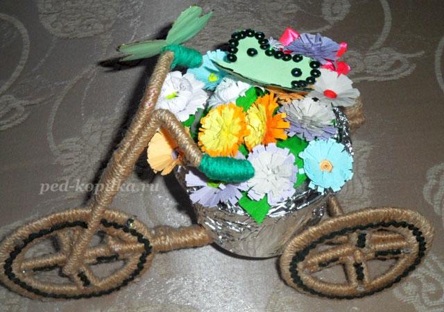 Велосипед кашпо своими руками фото