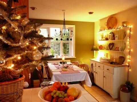 Как украсить кухню на новый год своими руками фото