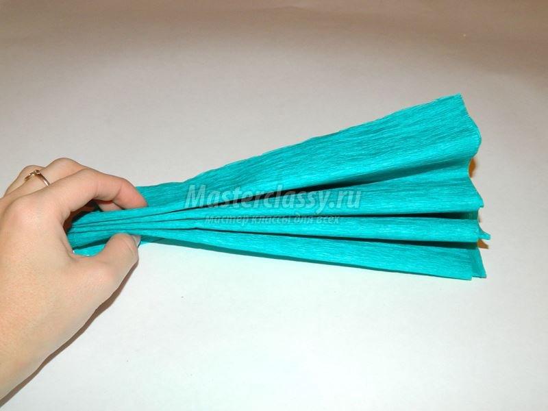 Как сделать помпон из гофрированной бумаги своими
