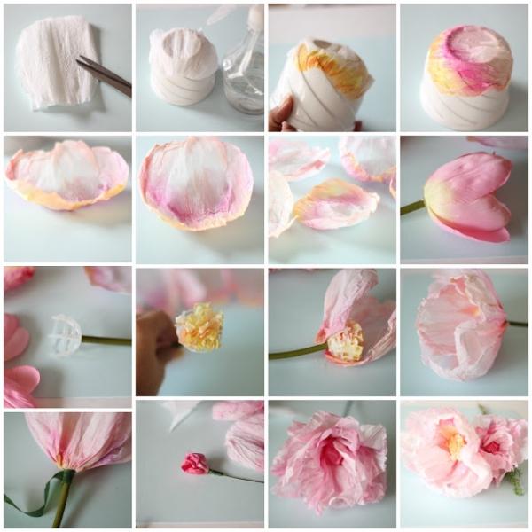 Цветов из гофрированной бумаги своими руками пошаговое фото