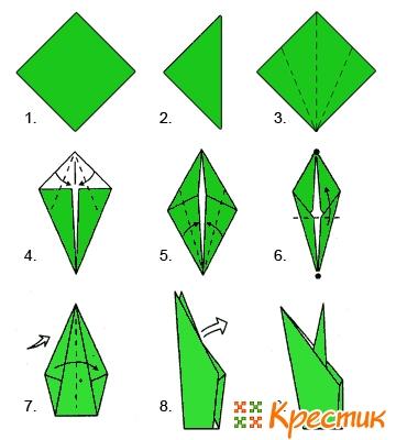 Как сделать цветок из бумаги а4
