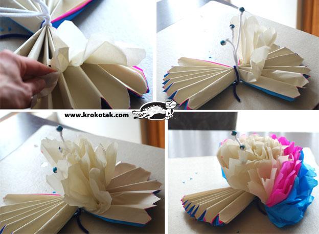 Большие цветы из бумаги своими руками пошагово