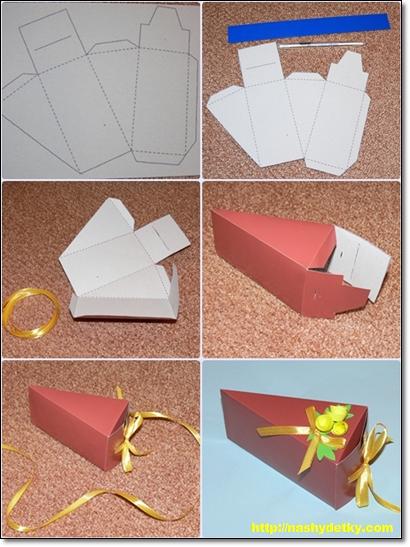 Сделать своими руками упаковку подарка