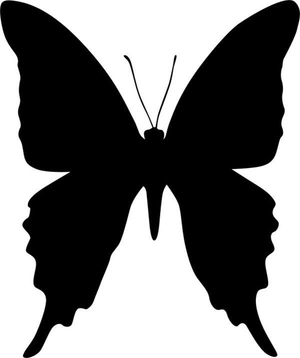Трафарет бабочка своими руками