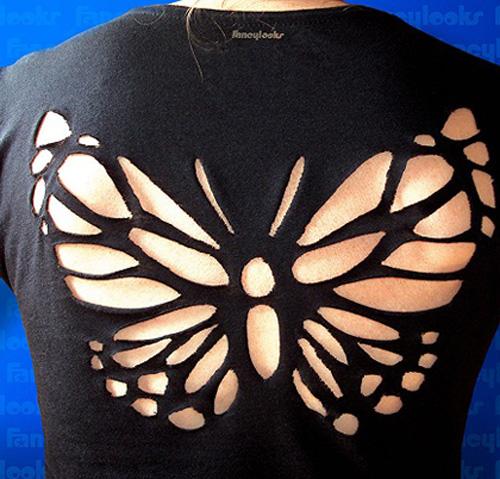 Вырезы на футболках своими руками на спине
