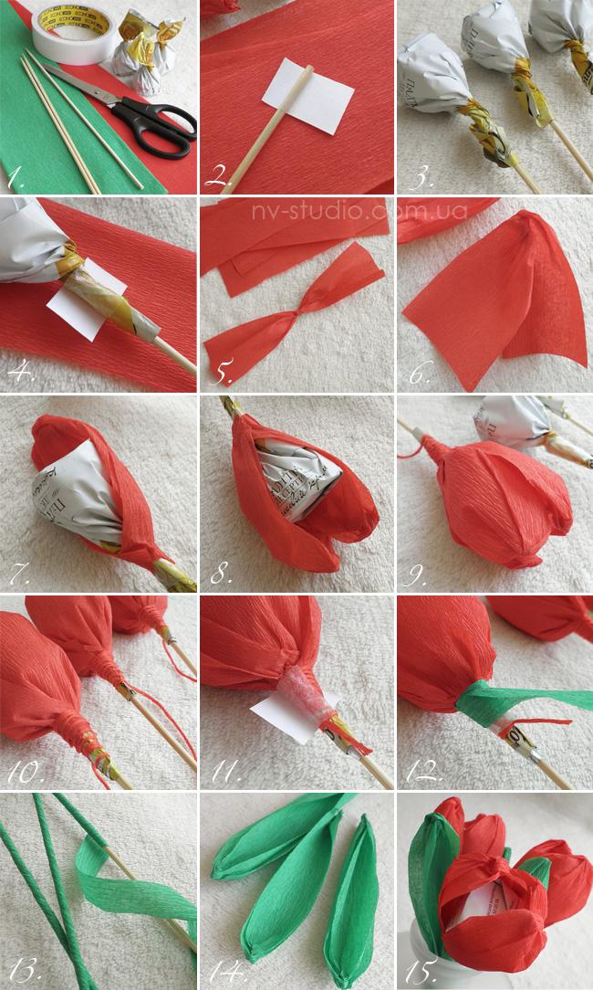 Создавая цветы из