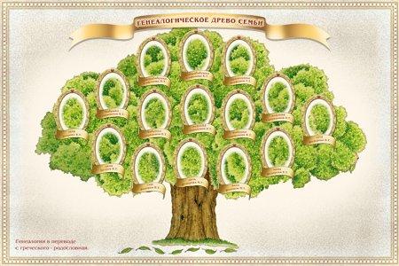 генеалогического дерева и